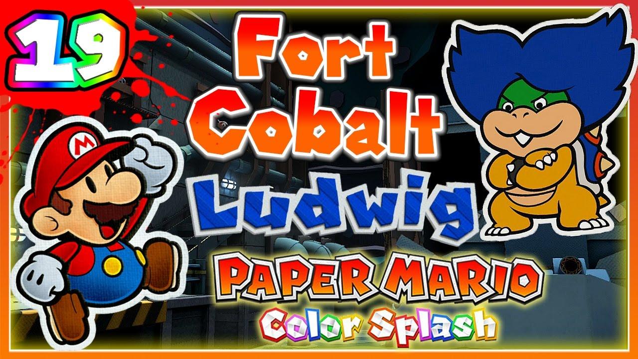 Abm Paper Mario Color Splash Fort Cobalt Boss Ludwig