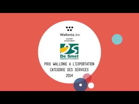 Prix Wallonie a l´Exportation AWEX 2014 for De Smet Engineers & Contractors