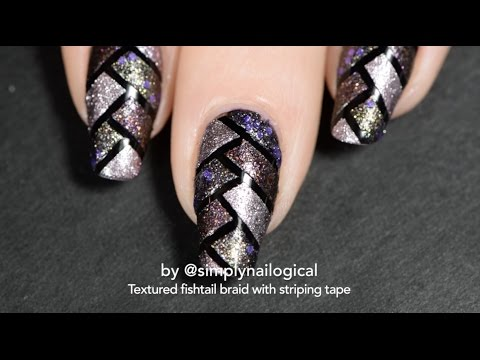 Textured Fishtail Braid Nail Art