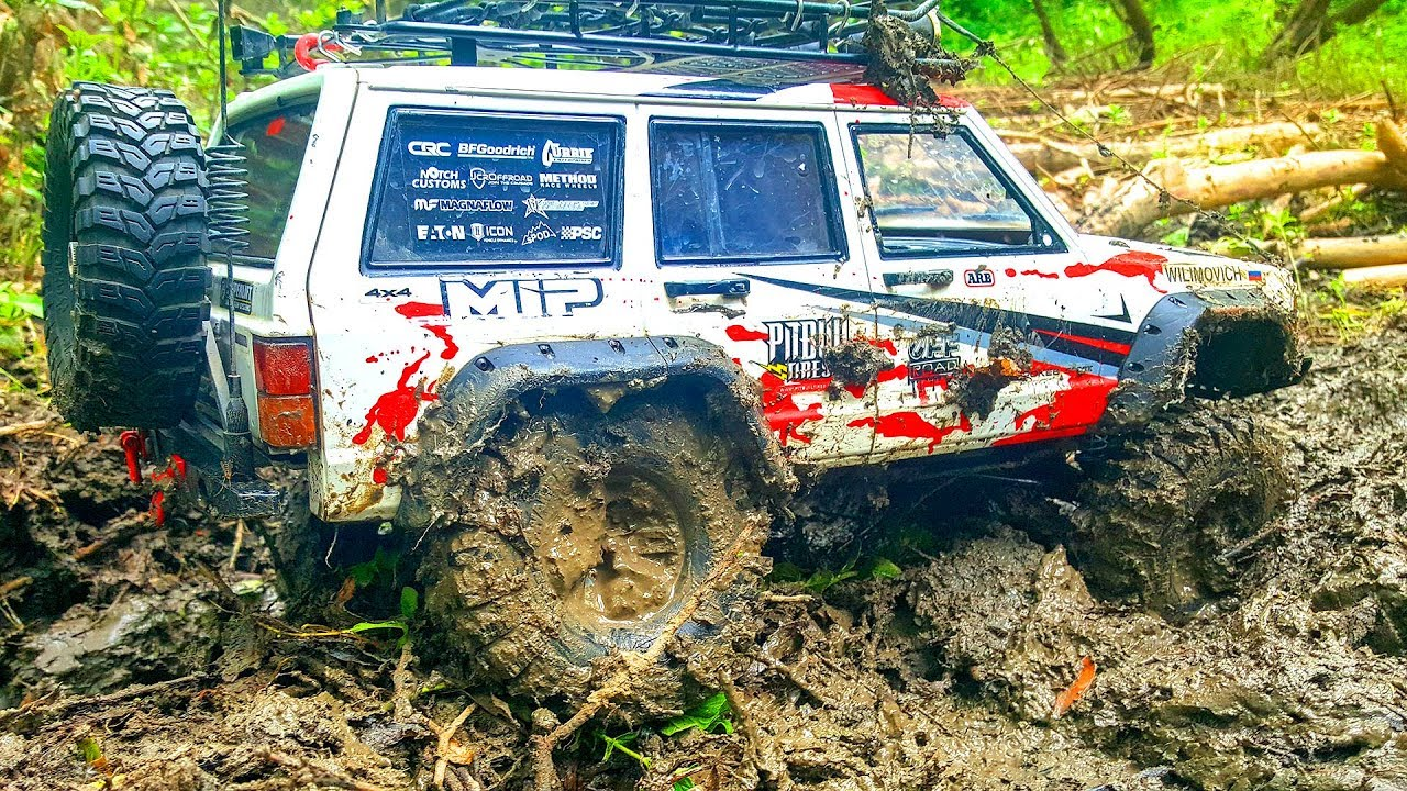 RC Cars Stuck in MUD Rescue Winch — Jeep Axial, Land Rover MST, Wraith | Wilimovich
