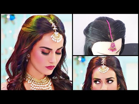 maang-tikka-setting-for-every-hairstyle-||-surbhi-jyoti-hairstyle-in-nagin3-||-mang-tikka-hairstyles