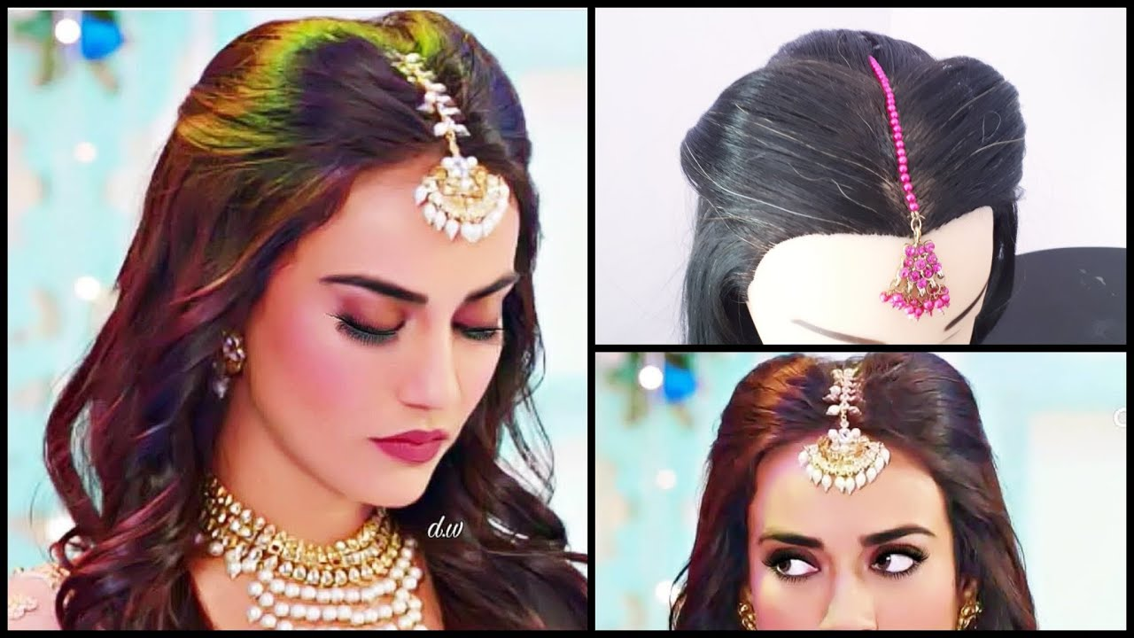 maang tikka setting for every hairstyle || surbhi jyoti hairstyle in nagin3  || mang tikka hairstyles