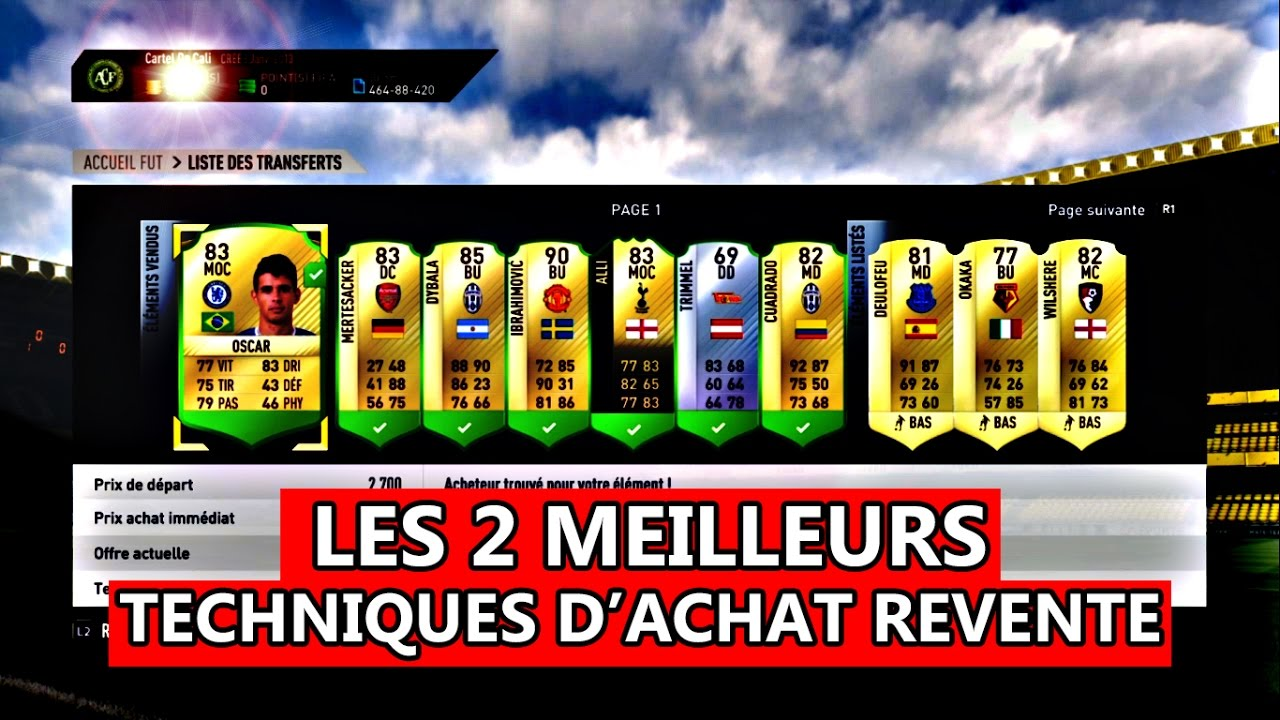 fut 17 les 2 meilleurs techniques d 39 achat revente youtube. Black Bedroom Furniture Sets. Home Design Ideas