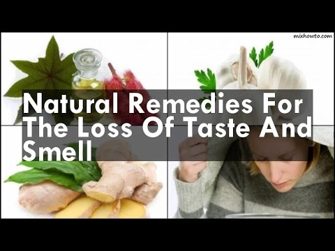 What are some known cures for loss of taste?