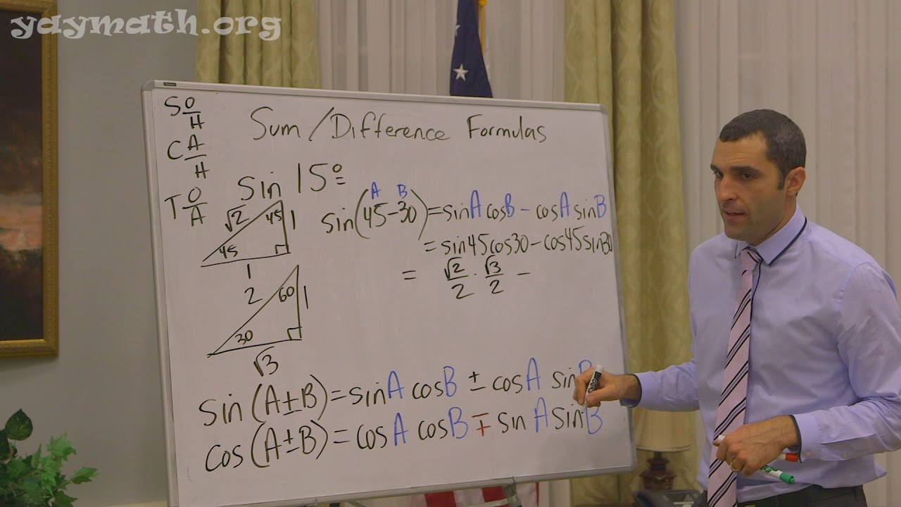 Trigonometry Sum And Difference Of Angles Identities Youtube