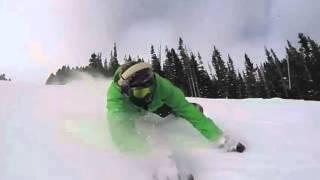 Фан карвинг супермен на сноуборде