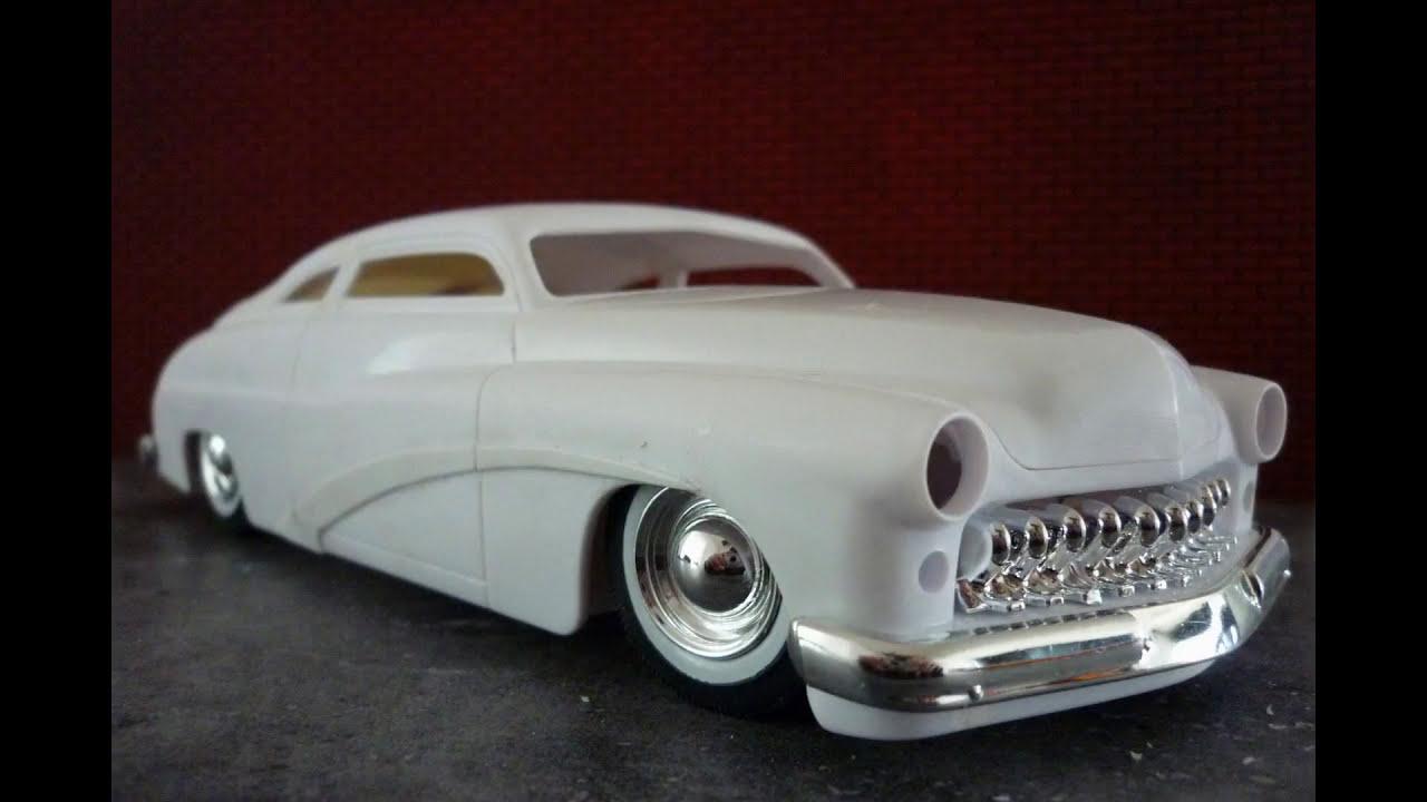 49 1949 Mercury 1//25 louvered hood chrome front grill custom lead sled car model