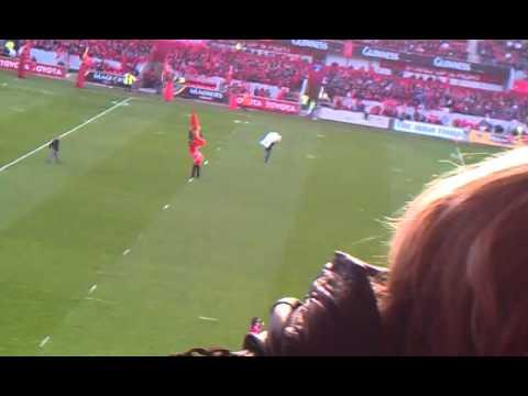 Cara O'Sullivan Stand up and Fight Munster versus Leinster Thomond Park