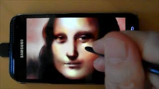 Phone Art - Painting Mona Lisa with Mobile Phone -  How to Paint Mona Lisa with Phone