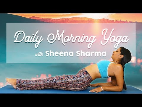 Easy Morning Yoga, Daily Routine for Energy & Heart Opening, 20 Mi…