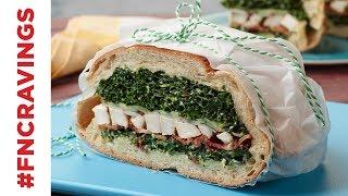 Brick-Pressed Chicken and Kale Caesar Sandwich | Food Network