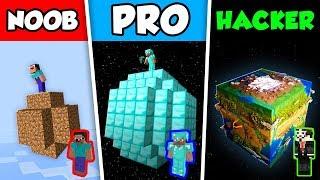 Minecraft NOOB vs PRO vs HACKER : PLANET CHALLENGE in Minecraft Animation!