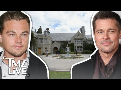 Brad Pitt & Leo Dicaprio Playboy Party | TMZ Live