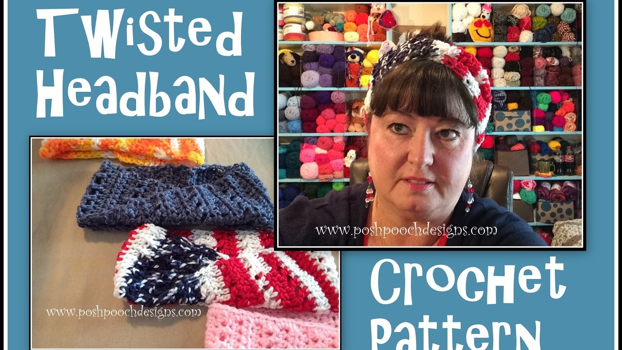 Twisted Headband Crochet Pattern Youtube