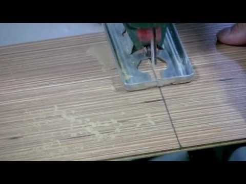 How To Cut Laminate Flooring With A Jigsaw Youtube