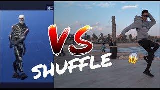 FORTNITE ELECTRO SHUFFLE VS REAL LIFE SHUFFLE/CUTTING SHAPES   HOUSE SHUFFLE