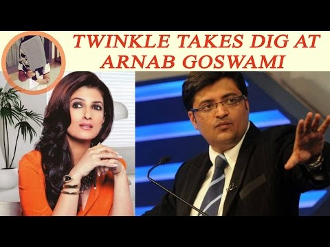 Twinkle Khanna takes dig at Arnab Goswami over promoting his Republic channel | Oneindia News