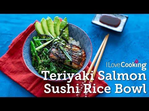 Salmon Rice Bowl with Teriyaki Sauce & Tender Stem Broccoli by Kwanghi Chan