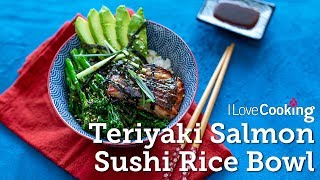 Salmon Rice Bowl with Teriyaki Sauce & Tender Stem Broccoli by Kwanghi Chan