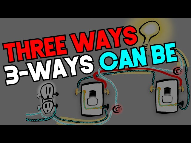 THREE WAYS 3-WAYS CAN BE (3way Switch Wiring - ILLEGAL AND LEGAL METHODS)