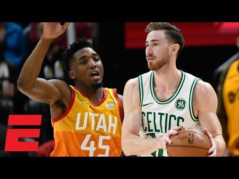 Gordon Hayward returns to Utah in Celtics' loss vs Jazz | NBA Highlights