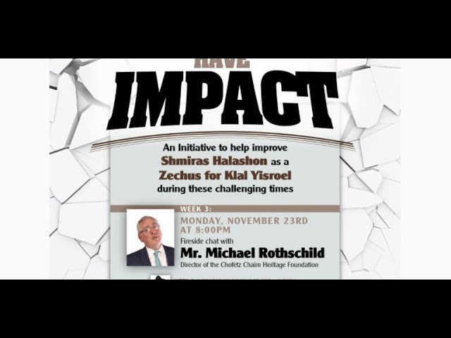 Words Have Impact Part 3 Fireside Chat with Mr. Michael Rothschild