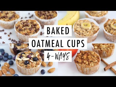 How To Make Baked Oatmeal Cups (4 Flavors) | Vegan + Gluten-Free
