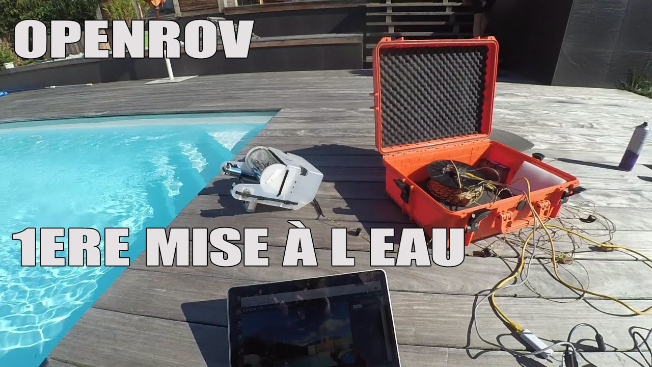 openrov premiere mis l eau en piscine youtube. Black Bedroom Furniture Sets. Home Design Ideas