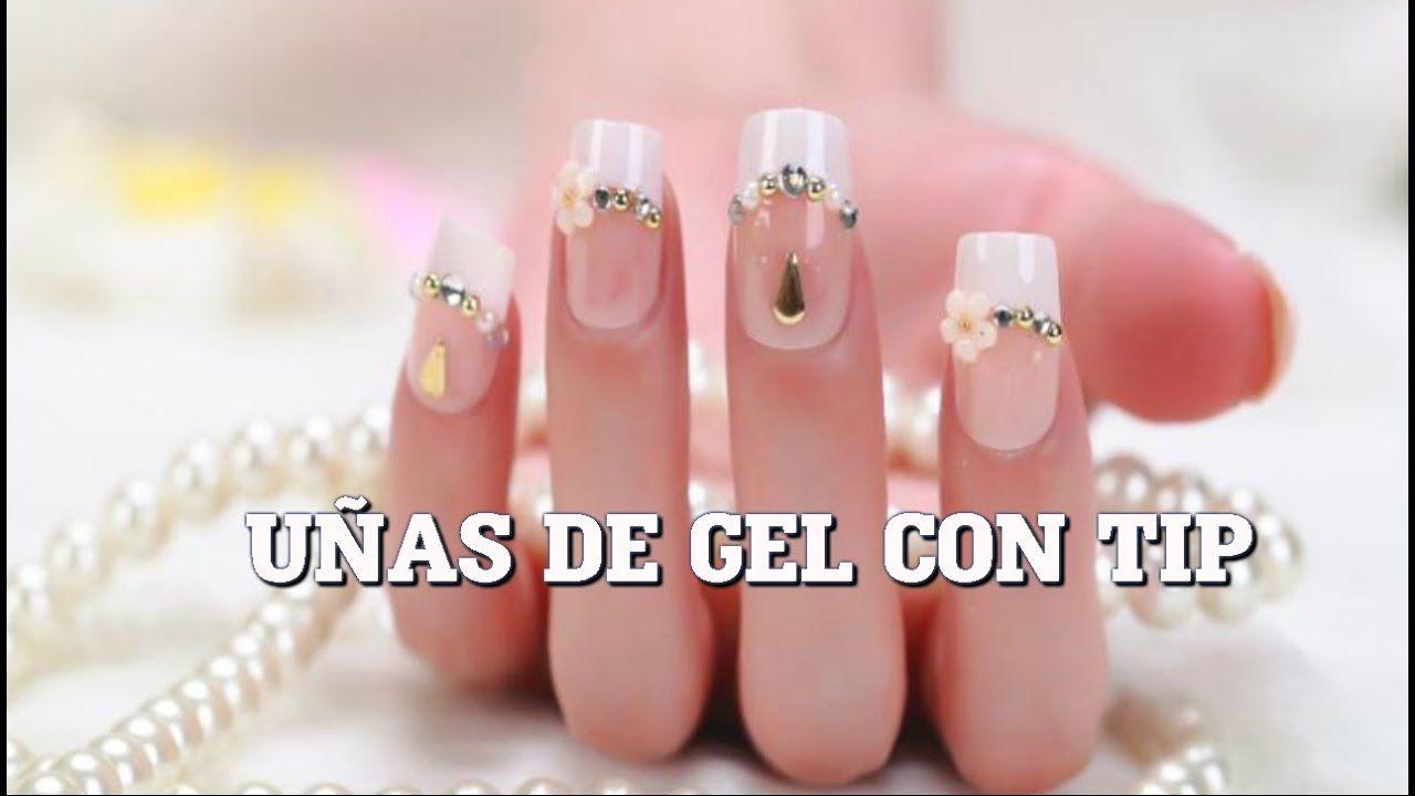 U as de gel con tips paso a paso youtube - Figuras de unas en gel ...