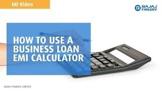 How to use a Business Loan EMI calculator? | Bajaj Finserv