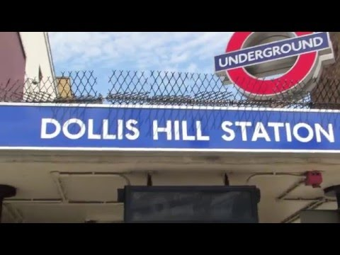 Walk around Dollis Hill Station in Willesden London
