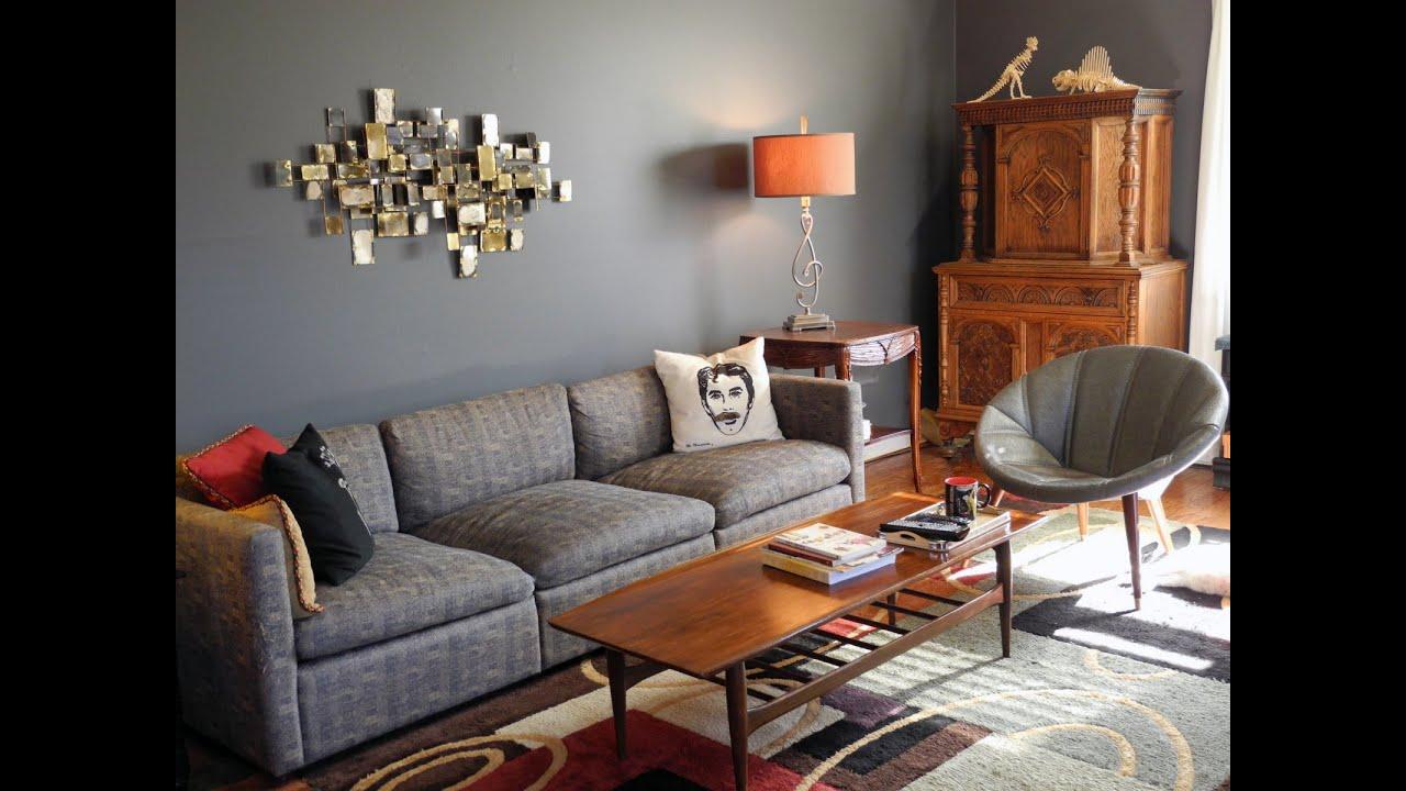 Living Room Blue Gray