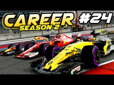 F1 2017 Career Mode Part 24: RENAULT TRYING TO TAKE THE LEAD OF THE RACE?!