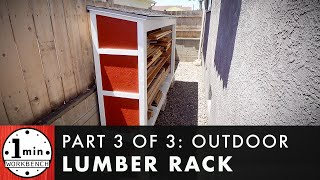 DIY Outdoor Lumber Rack for Tight Spaces, Part 3