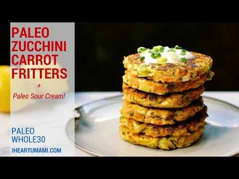 Zucchini Carrot Fritters (Paleo, Whole30)