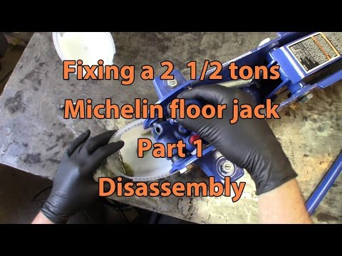 Michelin 2 1/2 tons floor jack repair, Part 1, disassembly
