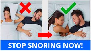 HOW TO STOP SNORING! (7 Important Steps)
