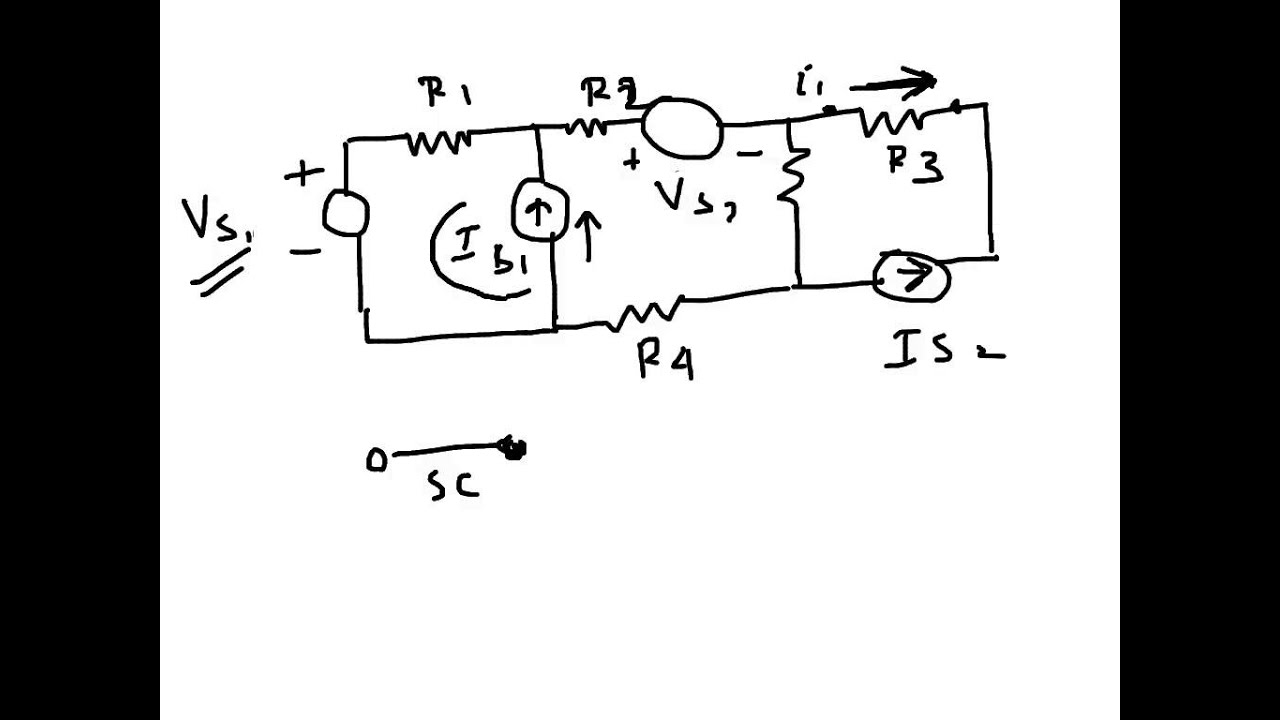 electrical circuit  principle of superposition