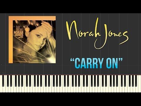 Norah Jones - Carry On (Piano Tutorial Synthesia)