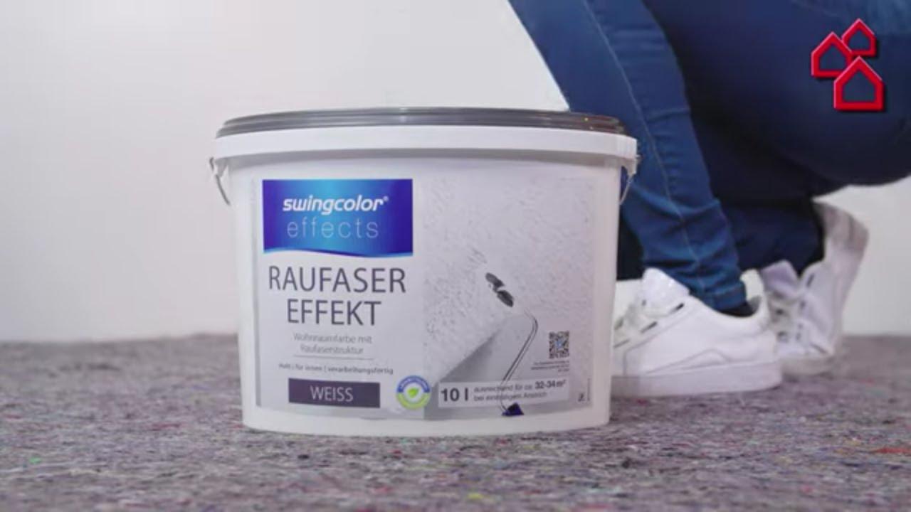 Turbo swingcolor effects Strukturfarbe (Raufaser-Effekt, Weiß, 10 l FH22