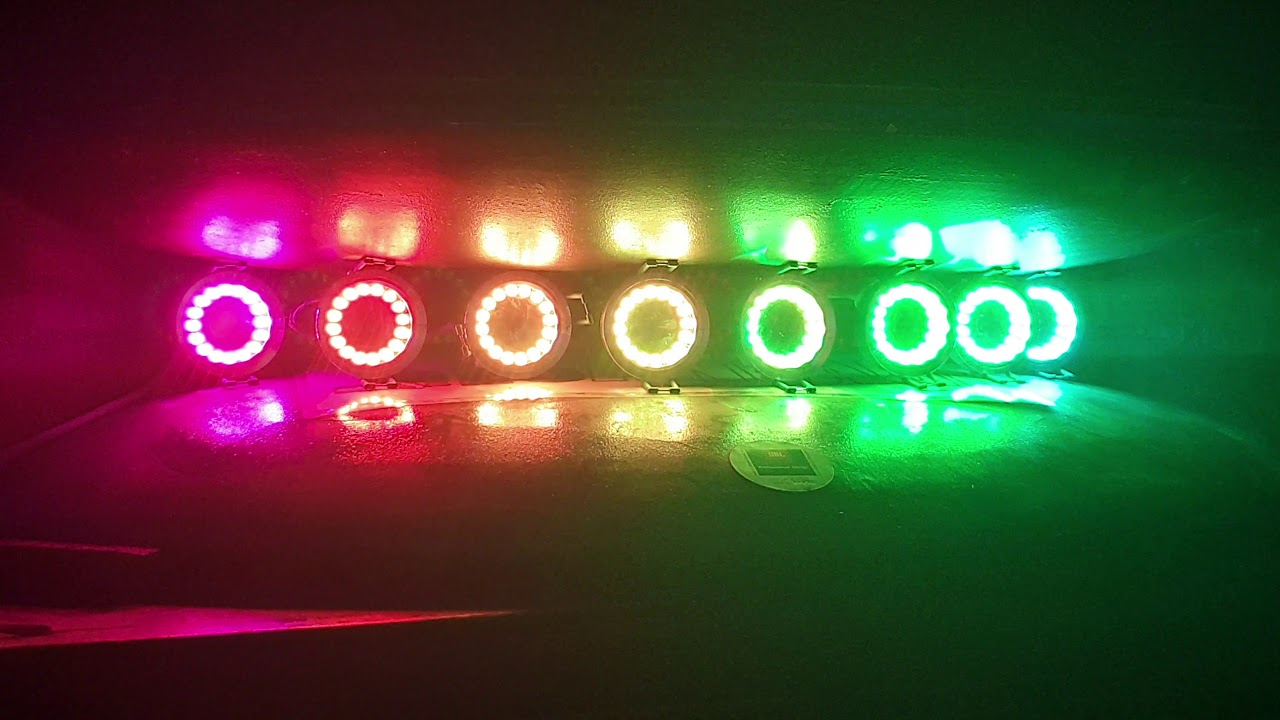 NeoPixel Ring 16 RGB+WarmWhite 3000K running ArtNet powered by