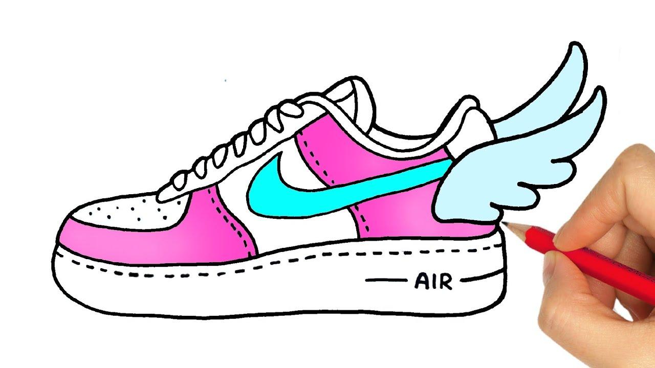 Comment Dessiner Une Chaussure Nike Como Desenhar Um Tenis Da Nike Social Useful Stuff Handy Tips