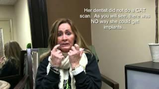 Houston Dental Implants - Dentures Cause Bone Loss and Shrunken Face