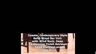 Coaster Contemporary Style Solid Wood Bar Unit With Wine Rack, Deep Cappuccino ...