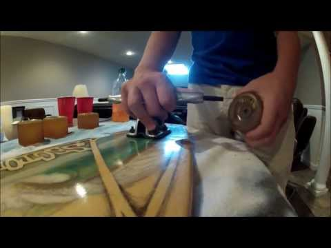 How to lubricate bearings on your longboard/skateboard.