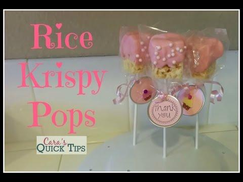 Rice Krispy Pops