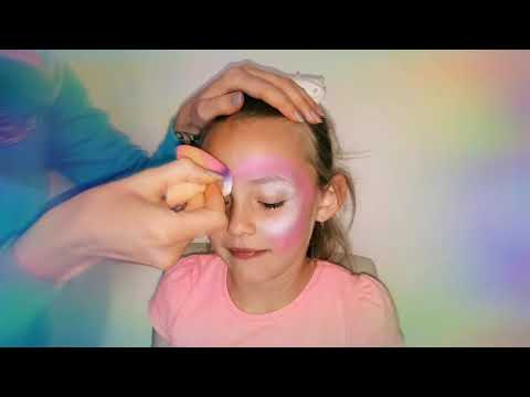 Pink Unicorn Face Painting 🦄💜 /quick and easy Unicorn face paint design for kids