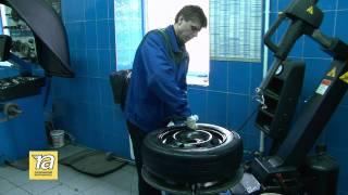 Процесс шиномонтажа в Петровском шинном центре