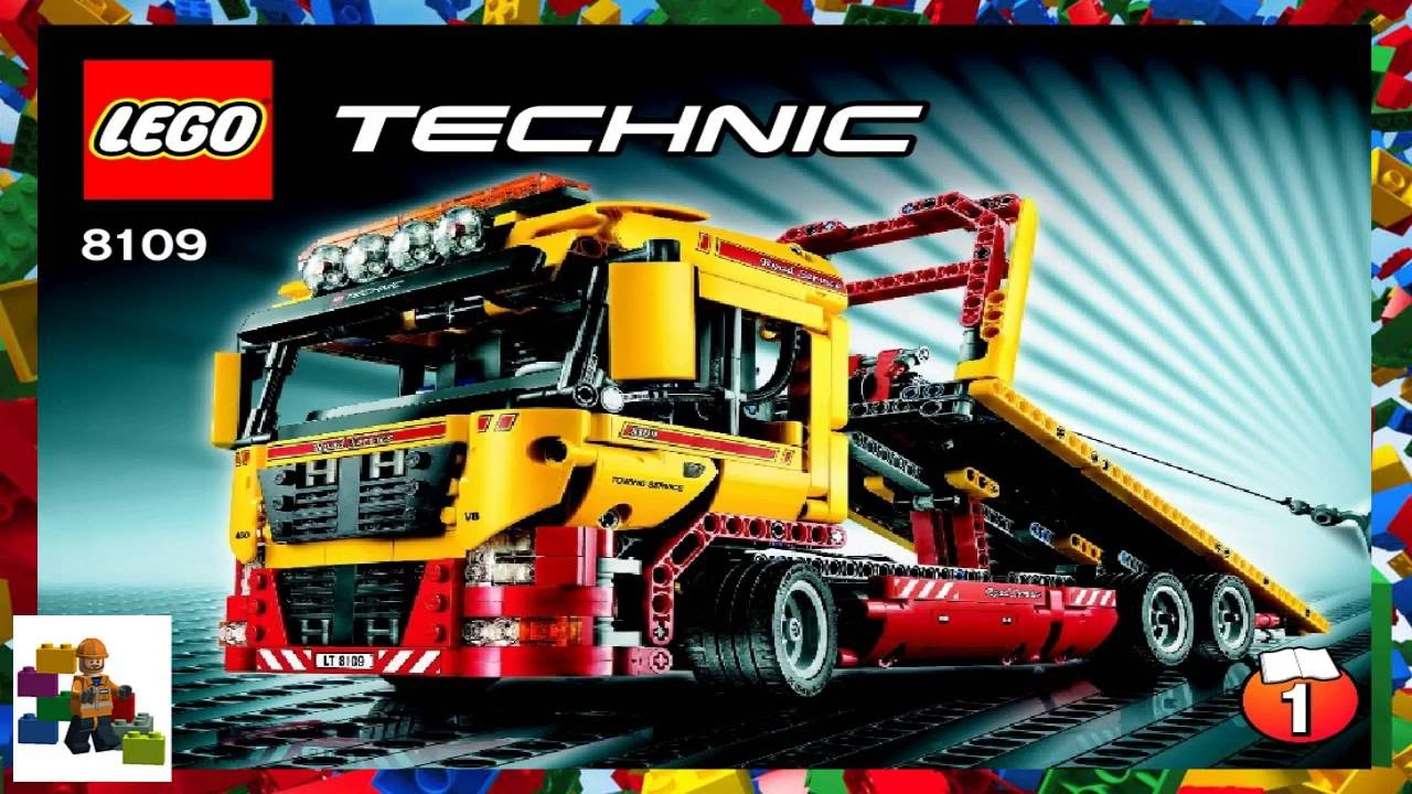 Lego Instructions Technic 8109 Flatbed Truck Book 1 Youtube