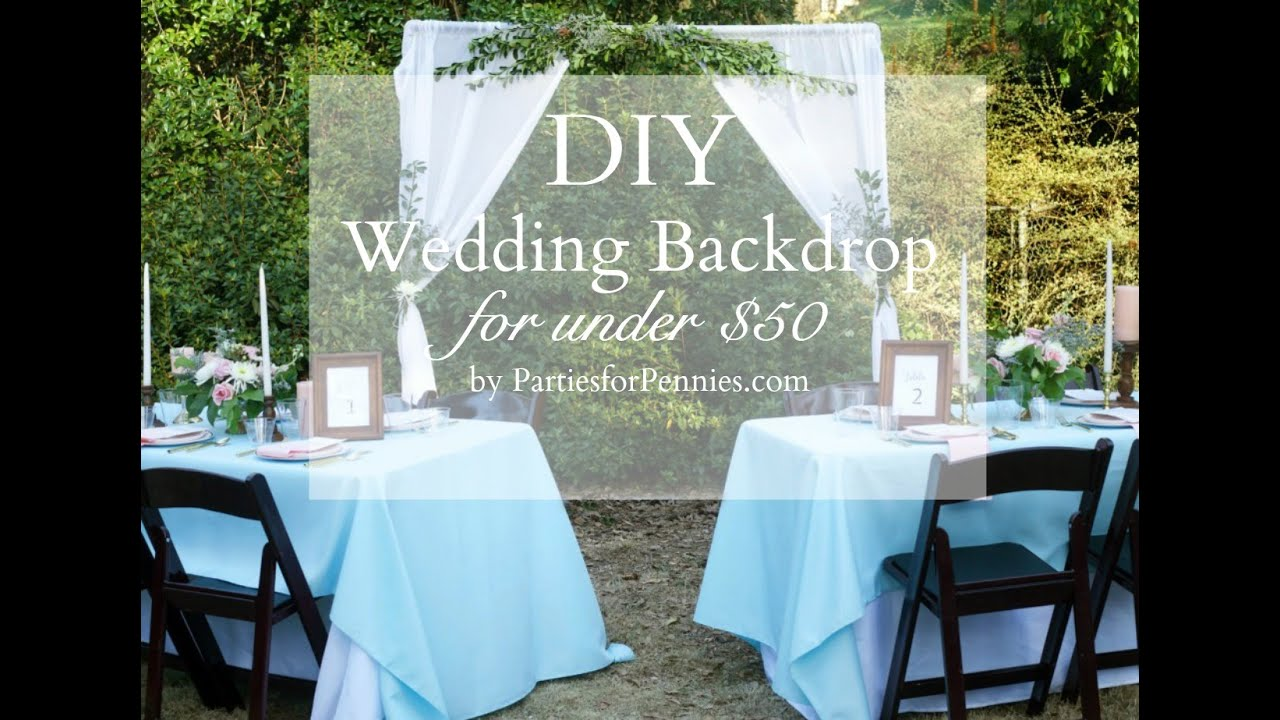 Diy wedding backdrop under 50 youtube diy wedding backdrop under 50 solutioingenieria Choice Image